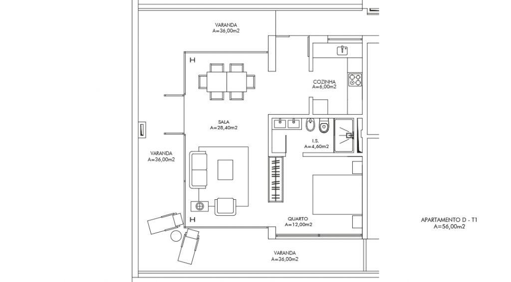 Planta Apartamento D
